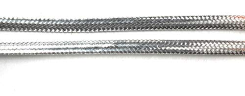 Silver Metallic Flat Braid Cord 1/8