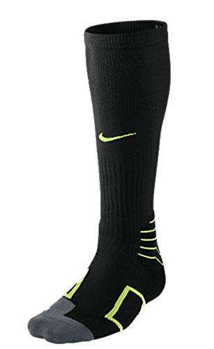 Nike Elite Baseball Vapor OTC Sock - Black/Volt - Large SX4844-071-L
