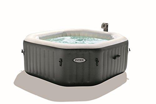 Intex Octagonal Pure Spa - 4 Person Bubble Therapy Hot Tub