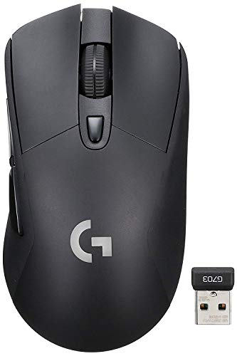 wireless 게이밍 마우스 로지쿨 G703d 인간공학 디자인 wireless 충전 대응 LIGHTSPEED Logicool G 스티커 부착