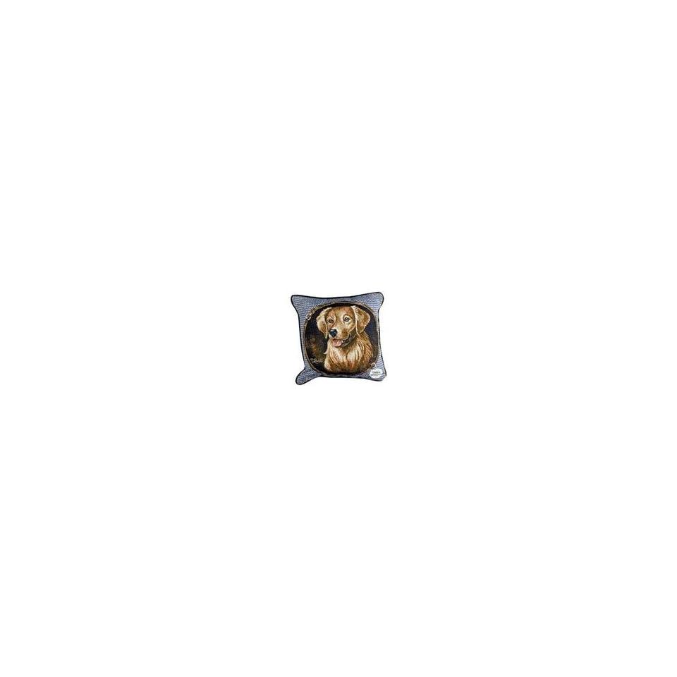 Golden Retriever Dog Animal Decorative Throw Pillow 17 x 17