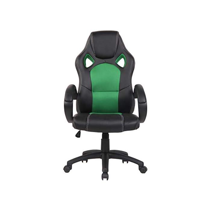 31zaqIIYbfL CARACTERÍSTICAS: La silla Gaming Fire tiene un acolchado de alta calidad y mezcla el tapizado en cuero sintético y tela para ofrecer un plus de comodidad. La silla tiene un estilo deportivo, es regulable en altura, giratoria e incluye un mecanismo de balanceo para ofrecer más libertad de movimientos. POSTURA SALUDABLE: Con la silla gaming Fire se consigue mantener una postura cómoda durante largos periodos de tiempo, además, gracia a su diseño claro y sus definidas formas hacen que se adapte perfectamente a la postura de trabajo. Ofreciendo así el máximo confort. DIMENSIONES: La silla Gaming tiene las siguientes medidas: Altura total: 110 - 120 cm I Ancho total: 62 cm I Profundidad total: 66 cm I Altura del asiento: 49 - 59 cm I Profundidad del asiento: 50 cm I Altura del respaldo: 71 cm I Altura del resposabrazos des del suelo: 72 - 82 cm I Peso: 16 kg.