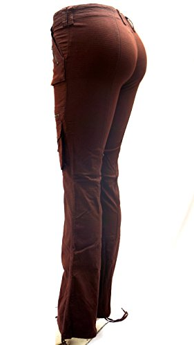 Blue Pointe Juniors Womens Stretch Premium Brown Cargo Pants 3054ES (9/10) by JEANS FOR LOVE (Image #2)
