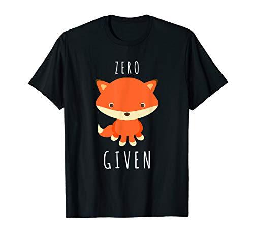 Cute Zero Fox Given T Shirt Tee Funny Emoji Stuffed Redhead