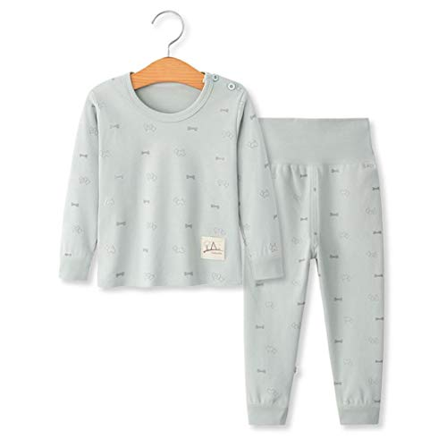 YANWANG 100% Organic Cotton Baby Boys Girls Pajamas Set Long Sleeve Sleepwear(3M-5T)(Tag55/12-24M,Pattern 9) ()