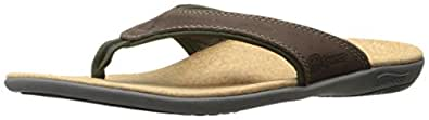 Spenco Mens Yumi Leather Sandal Brown Size: 7
