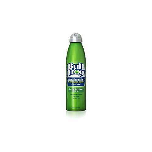 Bull Frog Spf 50 Marathon Mist Continuous Spray Sunscreen 6o