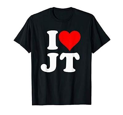 I Love JT Heart T-Shirt