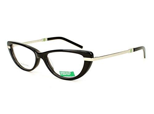 optical-frame-benetton-acetate-black-silver-be126-01