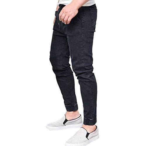 Fit Uomo Pantaloni Skinny Nero Jeasns Fashion Jeans Slim Chino Da 1xwwWqUEXS