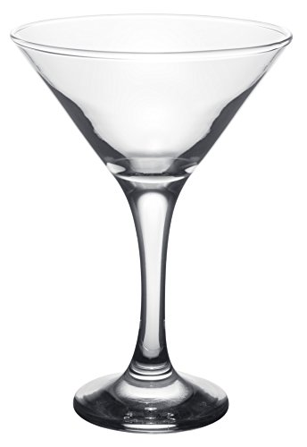 (Clear Glass Barware, Classic Long Stemmed Martini Cocktail Glasses, Set of 6, 6 oz )