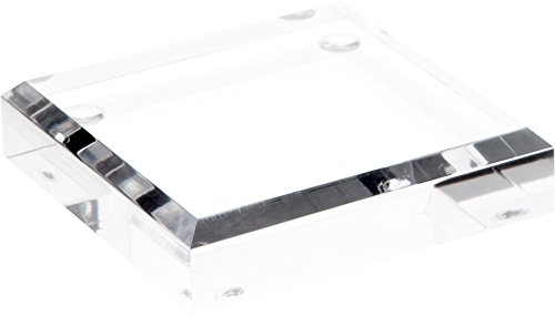 Acrylic Base - Plymor Brand Clear Acrylic Square Beveled Display Base.75