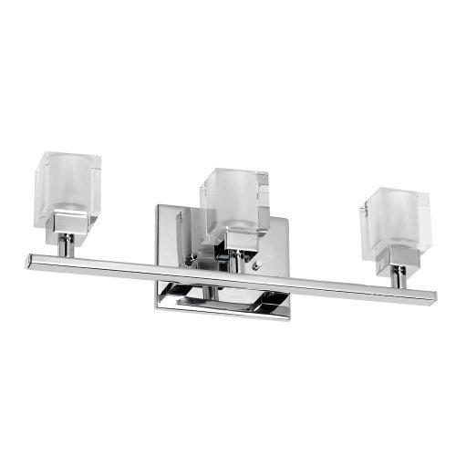 Dainolite Lighting 83893W-PC 3 Light Vanity Fixture