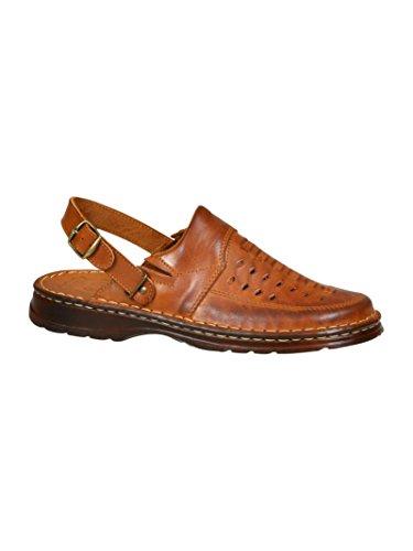Genuine Buffalo Leather Footwear Mens Comfortable Orthopedic Form Sandals Shoes Model - Men Images Models