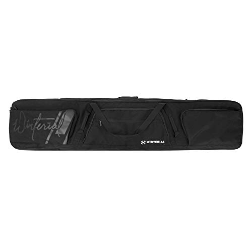 Winterial 2018 64 x 11.5 inch(162.5 x 29cm) Double Snowboard Bag with Wheels, Travel Bag with Storage Compartments, Reinforced Double Padding Perfect for Road Trips and Air Travel, Fits 2 Snow-Boards - Wheels Bags Snowboard
