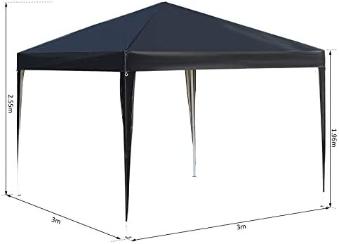 Outsunny Carpa Plegable 3x3m de Jardín Cenador Gazebo para Patio ...