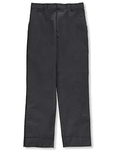 Rifle Big Boys' Double Knee Flat Front Pants - Gray, 12