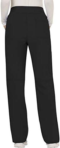 CHEROKEE Women's Mid Rise Straight Leg Pull-on Pant