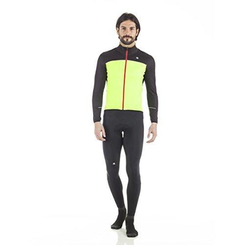Giordana 2017/18 Men's Fusion Cycling Jacket - GICW16-JCKT-FUSI (Yellow Fluo/Black - 3XL)