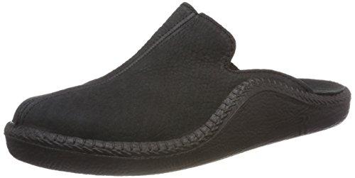 Romika Herren Mokasso 202 Pantoffeln Schwarz (Schwarz 100 100)