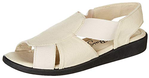 Coral Bay Womens Maggie Memory Foam Sandals with Slip Resistant Soles