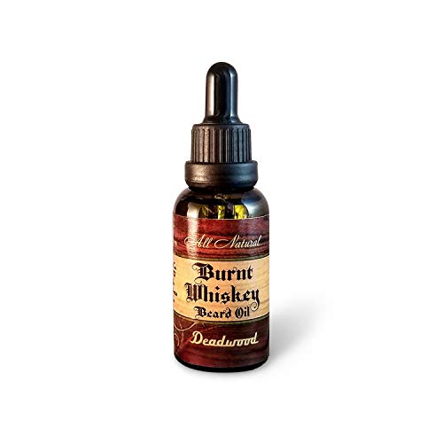 Burnt Whiskey Men's All Natural Beard Oil, Deadwood.33 oz