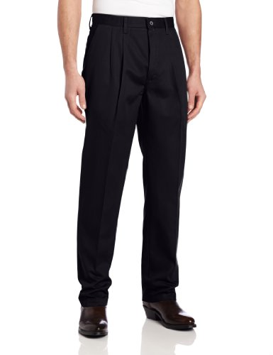 Wrangler Men's Tall Riata Pleated Front Casual Pant, Navy Blue, 34x38 (Pants Casual Front Pleated)
