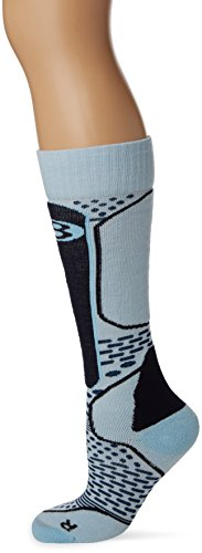 Icebreaker Merino Women's Ski+ Light Over The Calf Socks, Ice Blue/Largo/admiral, Medium
