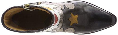 Melvin & Hamilton Dame Marlin 12 Stiefel Mehrfarbig (crust / Sort (1) / Guld (2,4) / Hvid (3) / Patches Rødkerneindhold + Gule Stjerner / Ls Nat.)