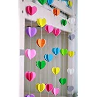 Rainbow Heartin Paper Garland Party Decorations - birthday decorations for girls,birthday decoration items,birthday decorations materials,marriage decoration materials,Paper Garland royal decoration,birthday decorations items for boys