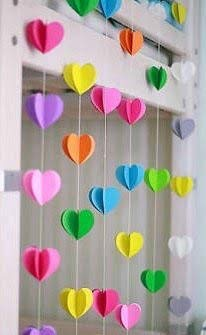 Rainbow Heartin Paper Garland Party Decorations