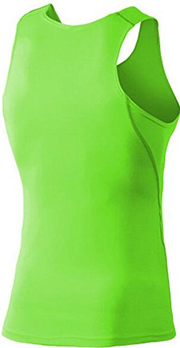 Findci Mens Smooth Comfortable Sports Sleeveless Shirt (XXL, Black)