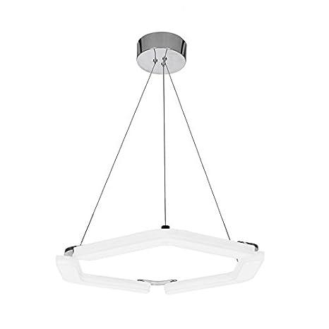 CristalRecord Boomerang Lámpara LED de Techo, 45 W, Blanco, 40 x 30 x 7.5 cm