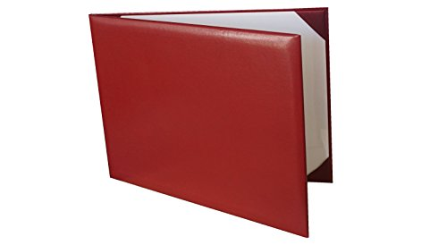 Diploma Cover Holoder Smooth 7x9 Certificate Cover Grad Days Maroon ()