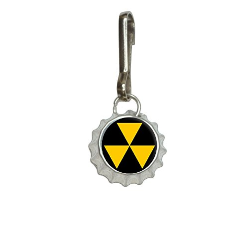 Fallout Shelter Antiqued Bottlecap Charm Clothes Purse Luggage Backpack Zipper Pull