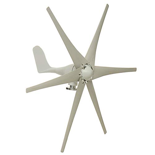 ZUINIUBI 800W Peak 6 Blades 12V/24V/48V Horizontal Wind Turbine Generator Residential Home