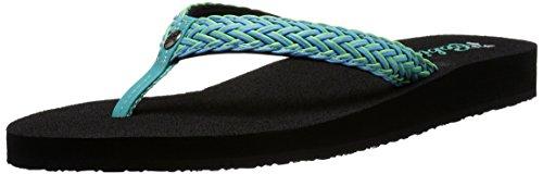 Cobian Eva Sole Sandals - Cobian Womens Women's LALATI Sandal, Aqua, 8 M US