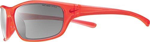 Nike EV0821-806 Varsity Sunglasses (One Size), Crystal Hyper Crimson/Gym Red, Grey with Silver Flash (Frame Crimson Red Lens)