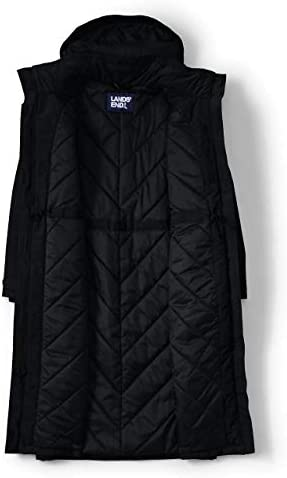 Lands' End Women's Squall Insulated Waterproof Stadium Long Winter Coat with Hood