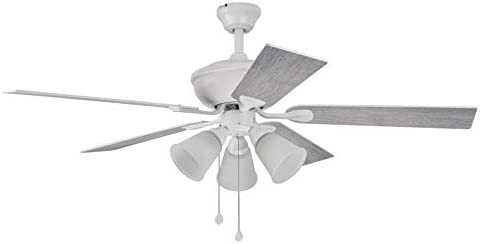 Harbor Breeze Sailor Bay 52 In White Led Indoor Ceiling Fan With Light Kit 5 Blade Kitchen Dining Amazon Com