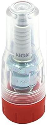 DRC SPARK PLUG PROTECTOR C- TYPE CLEAR/RED