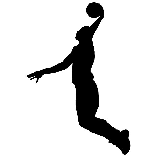 sports silhouette wall decals - 5