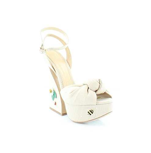 charlotte olympia Floral Vreeland Women's Heels Natural Size 8.5 M