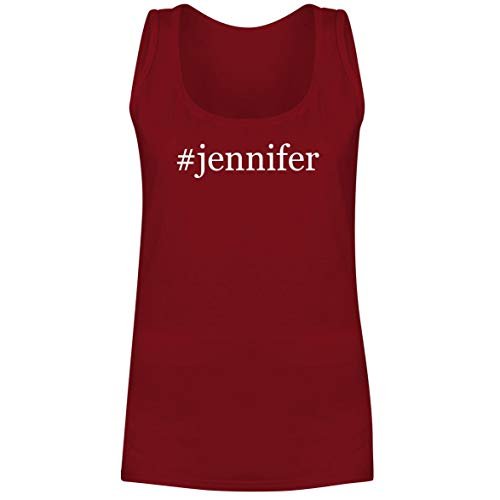 #Jennifer - A Soft & Comfortable Hashtag Women's Tank Top, Red, XX-Large