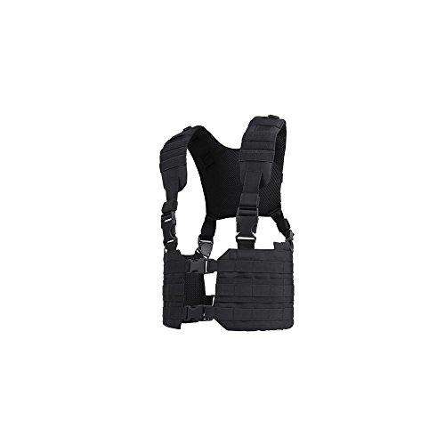 Condor MCR7 MOLLE Tactical Ronin Chest Rig Split Vest- Black MCR7-002 (Tactical Molle Harness)