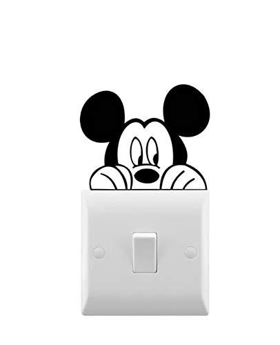 Hatcherabilia Mickey Inspired Novelty Light Switch Sticker Wall Decal