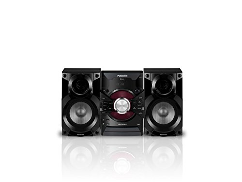 (Panasonic MAX DJ Jukebox Sound System SC-AKX18 (Black) Bluetooth and USB Music Play, Smartphone Control)