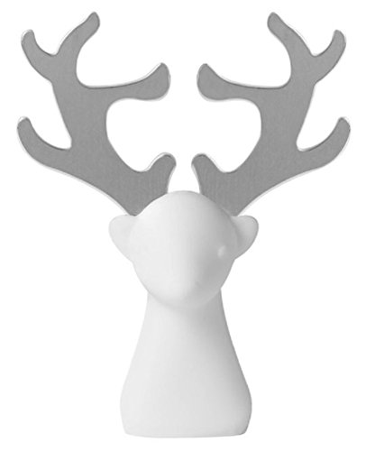 - nod products Deer Antlers Silicone Handled Stainless Steel Bottle Opener