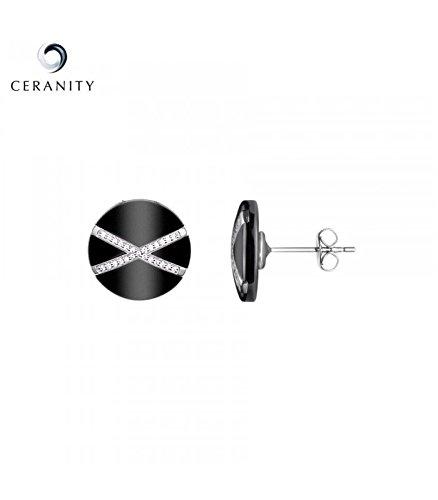 Boucles d'oreilles Céramique et argent Ceranity 1-42/0031-N
