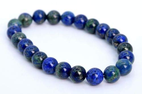8MM Azurite Bracelet Grade AAA Genuine Natural Round Gemstone Beads 7'',